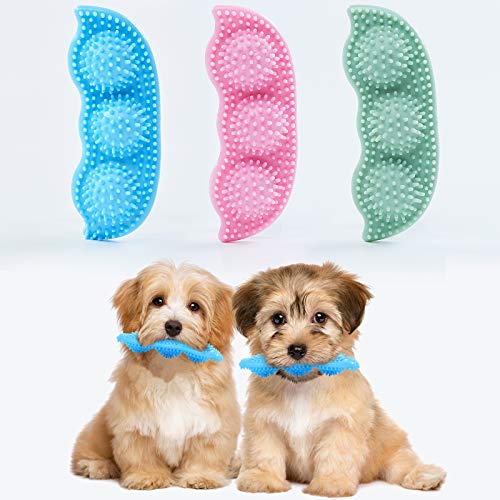 3 Pack Dog chew Toy for Teething , 2-8 Months Puppies chew Toys, 360° Clean pet Teeth & Soothe Pain of Teeth Grow, Puppy Puzzle Toys, Both Small Dogs & Medium Dog Suitable