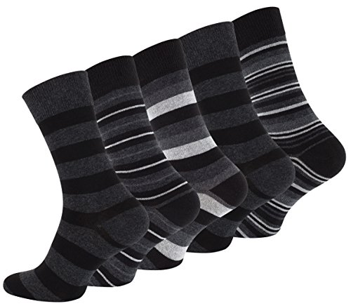 Vincent Creation 10 Paar Herren Casual Socken STRIPES mit hohem Baumwollanteil