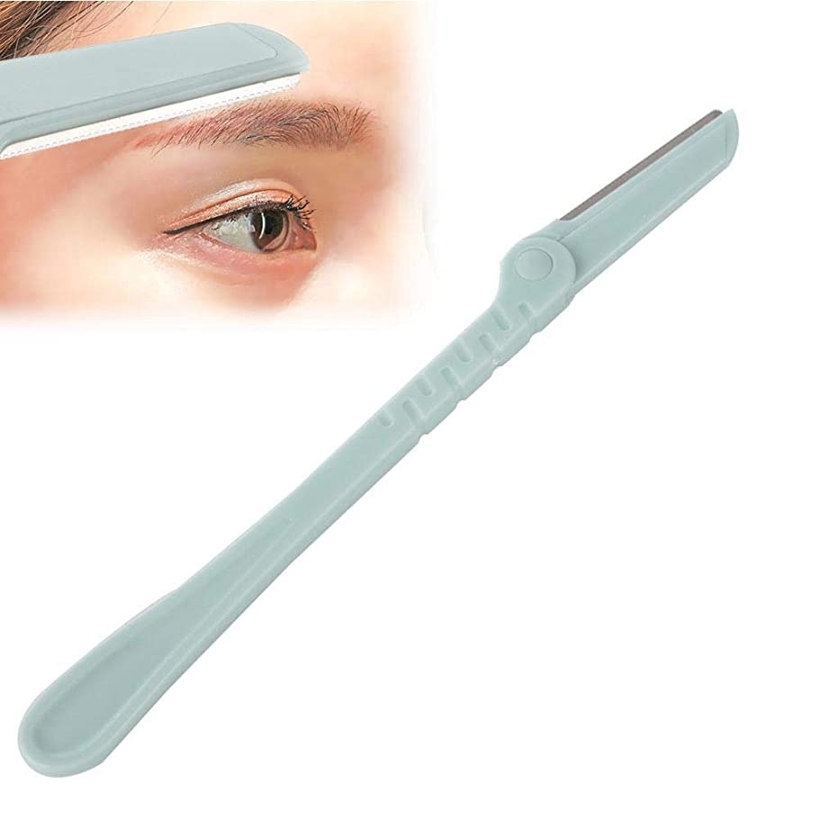 1ピース眉毛カミソリ化粧道具 - 女性と男性の顔のリムーバー、眉毛カミソリの顔かみそりのヘアトリマーヘアトリマーのための美しい眉毛