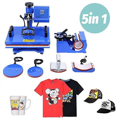 Samger Samger Máquina de Prensa de Calor Digital Swing Away Transferir la sublimación de la Impresora para Camiseta Mug Plate Hat 12