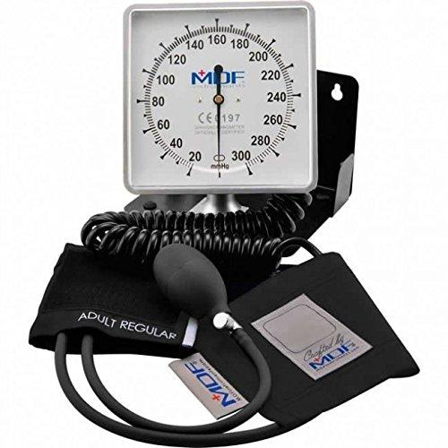 MDF® escritorio y pared Esfigmomanómetro aneroide - Monitor profesional de presión arterial - Negro - Garantía de por vida & Programa piezas gratuitas de por vida (MDF840-11)