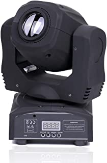 U`King LED Moving Head Light Spot 4 Color Gobos Light 100W DMX with Show KTV Disco DJ Party for Stage Lighting (Black)