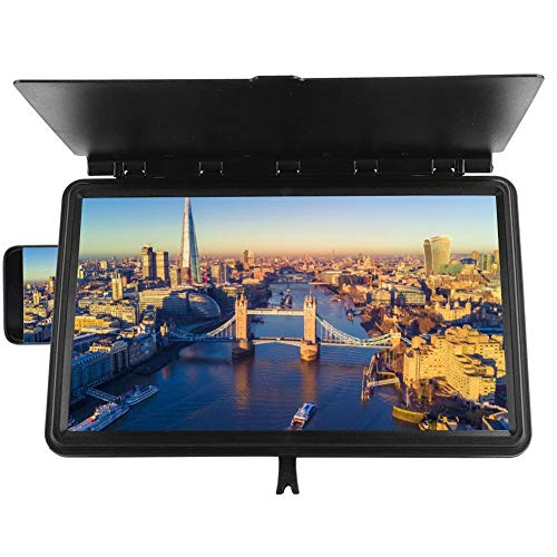 Amplificador de pantalla, 3D 12 pulgadas lupa de pantalla de teléfono plegable Lupa Soporte de pantalla universal Ampliador de pantalla de teléfono inteligente para películas, videos, juegos.(Negro)