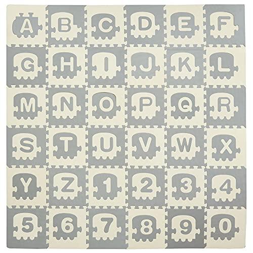 Alfombras Infantiles Puzzle Letras Y Números alfombras infantiles  Marca HOMCOM