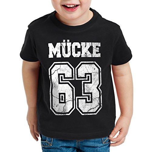 CottonCloud Mücke 63 T-Shirt für Kinder Bulldozer Film Star Movie, Farbe:Schwarz, Größe:104
