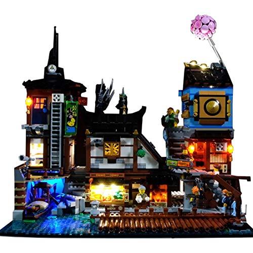 Poxl Iluminación LED para puerto Ninjago City Port, juego de luz LED compatible con Lego 70657 – modelo Lego no incluido