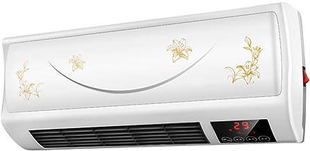 LJ Calefactor de Pared Calefactor de baño, 10-H Temporizador y Mando a Distancia para Cuarto de baño, salón o Oficina, 2 Posiciones de Calor