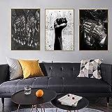 Afrikanische Schwarz-Weiß-Wandkunst Hände und Fäuste