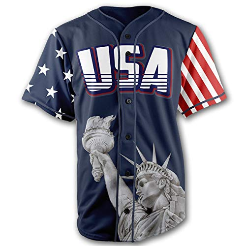 Greater Half Jersey: Liberty Edition Blue Trump #45 Jersey (2XL)