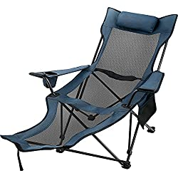 Happybuy Folding Camp Chair with Footrest