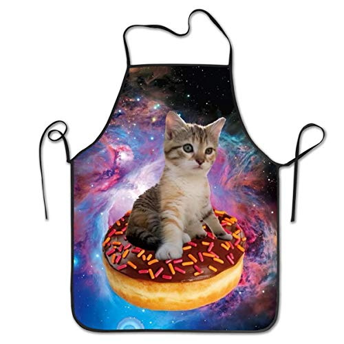 DianaRMurdhy Colorful Cat Donuts Food Delicious Apron Theme...