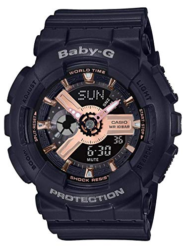 Reloj deportivo Ba110Rg-1A para mujer negro 43,4 mm resina, multi