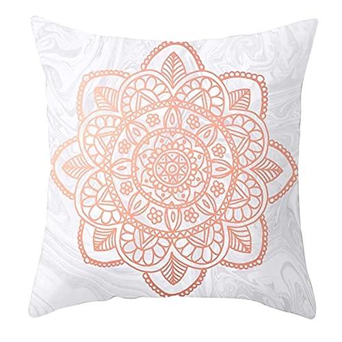 Agoble Funda Cojin Europalet, Pillow Poliéster 1 45X45Cmfunda Cojin Rosa Gris Flor Mandala