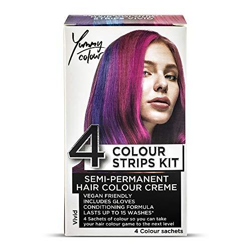 Stargazer Yummy Kit di strisce per tinta semi-permanenti, per capelli