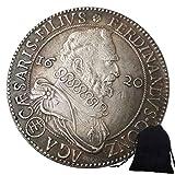 KaiKBax Monedas viejas de níquel de Italia talladas emperador europeo 1620 monedas - Europa - retos moneda conmemorativa antigua bolsa de regalo - Moneda perfecta del mundo