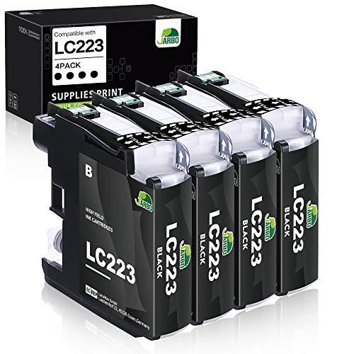 JARBO LC223 Patronen Kompatibel für Brother LC-223 LC223 XL Druckerpatronen (4x Schwarz) für Brother MFC-J5320DW MFC-J5620DW MFC-J5720DW DCP-J562DW DCP-J4120DW MFC-J4420DW MFC-J4620DW -J480DW -J680DW
