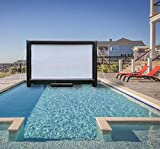 Sewinfla Outdoor Movie Screen 10ft- Upgraded Airtight Design Inflatable Movie Projector Screen for Outdoor/Indoor Use - No Need to Keep Inflating - Supports Front and Rear Projection