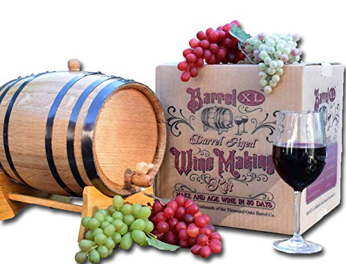 Thousand Oaks Barrel Co. | Barrel XL Aged Cabernet Wine Making Kit with 5 Liter American White Oak Cask | Perfect Gift Set for the Home Brewer and Wine Lover