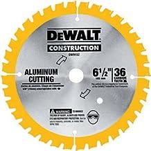 DEWALT 6-1/2-Inch Circular Saw Blade, Aluminum Cutting, 5/8-Inch Arbor, 36-Tooth (DW9152)