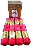 ▷ Pack de 8 Zepelines Ne 5/2 color FUCSIA 13 de algodón perlé 100% egipcio mercerizado para tejer labores de ganchillo o punto con un acabado elegante.