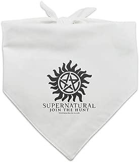 GRAPHICS & MORE Supernatural Anti Possession Symbol Dog Pet Bandana - White