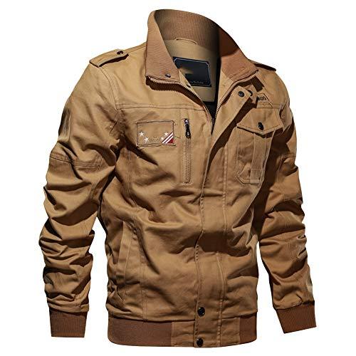 DongBao Men's Casual Cotton Coat Outdoor Windbreaker Jacket Stand Collar Jacket Bomber Jacket