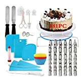 Kit Pasteleria y Reposteria Utensilios 181PC,Base Giratoria...