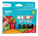 APLI Kids 14227 - Color Sticks 10 g, Multicolor, 6 u.