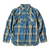 ファイブブラザー(FIVE BROTHER) ライトフランネル L/S チェック ワークシャツ (151901) ブルー 薄手ライトネル ネルシャツ