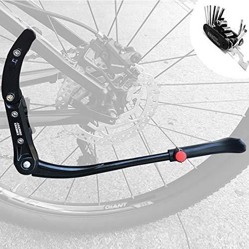 Fahrradständer Mountainbike 24-29 Zoll, Höhenverstellbar Universal Seitenständer Fahrrad, Seiten Ständer für Kinderfahrräder, Höhenverstellbarer Fahrradständer, für MTB Rennrad Fahrrad Ständer
