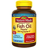 Nature Made Omega-3 from Fish Oil 550 mg Softgels, 300 Count for Heart Health (Packaging May Vary)