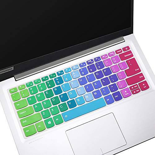 Keyboard Cover for 14' Lenovo Yoga C940, Lenovo Yoga C740 14 Laptop Keyboard Cover, ThinkBook 14s & 13s Laptop Keyboard Cover Protective Skin, Rainbow (NOT for 15.6' Lenovo Yoga C740 C940)