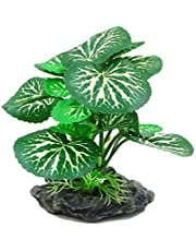 ANTOLE Aquarium Decorations Lifelike Plastic Decor Fish Tank Plants,Used for Household and Office Aquarium Simulation Plastic Hydroponic Plants (B)