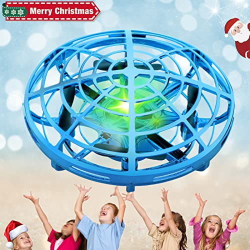 SHWD UFO Drones for Kids Hand Controlled Drone Toy for Kids Toddlers Adults, Indoor/Outside Mini UFO Drones with LED Colorful Lights, Upgraded Sensors & Long Battery Life, Gift for Birthday Christmas
