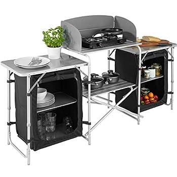 TecTake 800747 Cuisine de Camping Meuble de Jardin - Divers modèles - (Type 1   no. 403344)