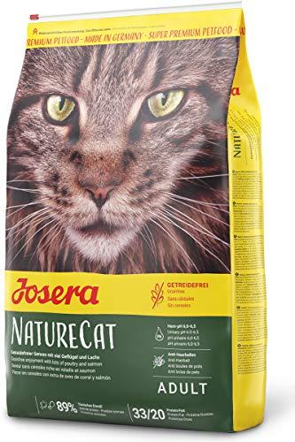 JOSERA NatureCat (1 x 10 kg) | getreidefreies Katzenfutter mit Geflügel und Lachs |...