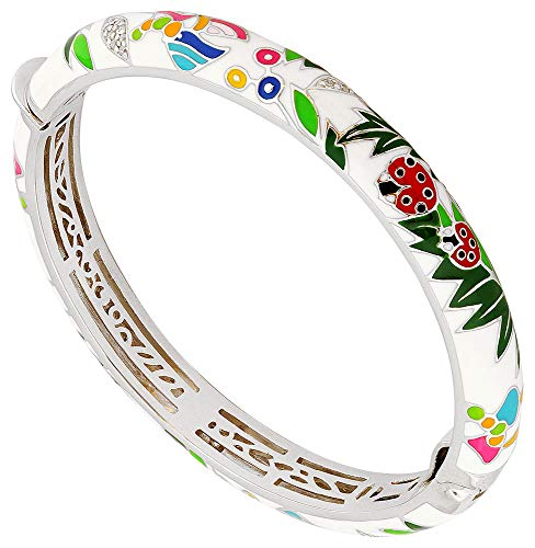 Una Storia - JO121179 : Bracelet Femme Argent et Emaux - Coccinelle