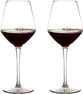 MICHLEY Incassable Verres à vin, 100% Tritan-Plastique vin Rouge Gobelets,440ml Verres à Boire pour Le Parti, Lot de 2