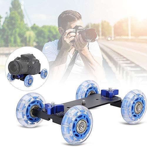 Mini Desktop 10KG Lastschiene Roller Track Slider Dolly Skater Auto for DSLR-Kamera-Camcorder