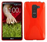 Cadorabo Case works with LG G2 MINI in CANDY APPLE RED -