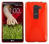 Cadorabo Funda para LG G2 Mini en Rojo Infierno - Cubierta Proteccíon de Silicona TPU Delgada e Flexible con Antichoque - Gel Case Cover Carcasa Ligera