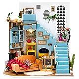 Rolife DIY Dollhouse Miniatures Craft Kits for Adults (Joy's Peninsula Living Room)