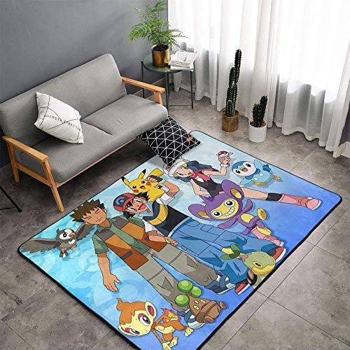 Alfombra de cocina Matt Flowe Poke-mon anime Poke-mon de 4 x 6 pies de anime Poke-mon para dormitorios infantiles