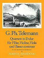 TELEMANN - Cuarteto en Re Mayor (TWV:43/d4) (Partitura/Partes)