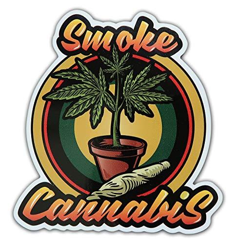Bamfdecals Weed Growers Smoke Cannabis Marijuana Printed Laminated Sticker Slap (Best Performing Marijuana Stocks 2019)