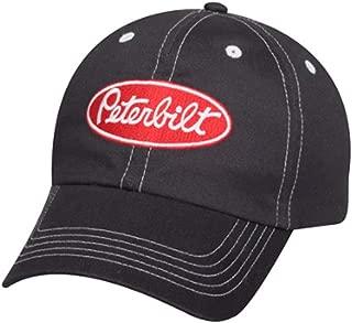 BD Peterbilt Trucks Motors Charcoal w/Red Oval Patch Cap/Hat