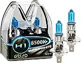Gread - 2x H1 Halogen Birne Xenon Optik - superweiss - 8500k 55W -...
