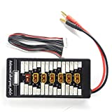Padarsey XT60 Parallel Charging Board 2S-6S Lipo Battery Charger Plate with 4mm Bullet Banana Connector Plug for Imax B6 B6AC Charger