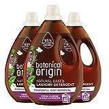 Botanical Origin Concentrated Eco Laundry Detergent, Fresh Jasmine & Lavender, 1.6 Litre (Pack of 3)