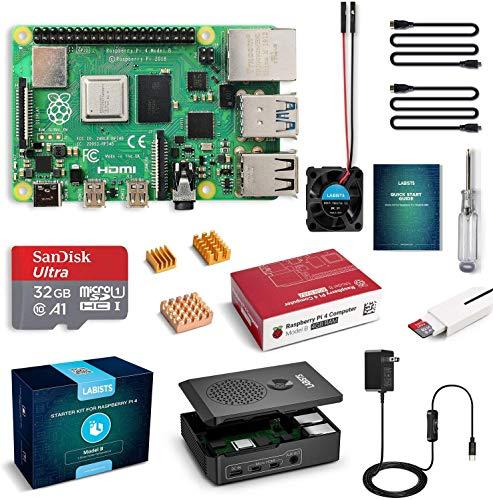 LABISTS Raspberry Pi 4 4GB Complete Starter PRO Kit with 32GB Micro SD Card (4GB RAM)